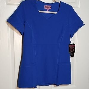 NWT MED COUTURE SIZE MEDIUM SCRUB TOP ROYAL